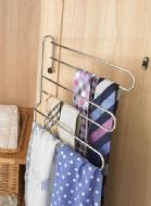 3-TIER TIE / BELT RACK (door mounted swing out) 300mm wide CHROME finish (ECF FF50900CH)
